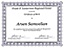 Arsen Samvelian Behavior Management Certification